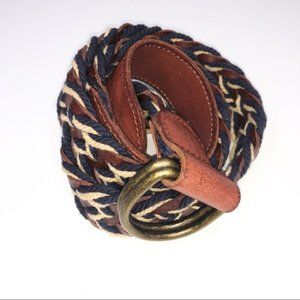 Lucky Brand Multicolor Woven Leather Belt 32